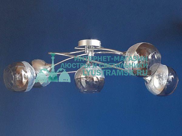 Люстра потолочная TinKo ЛС 785 на 4+1 рожков, хром