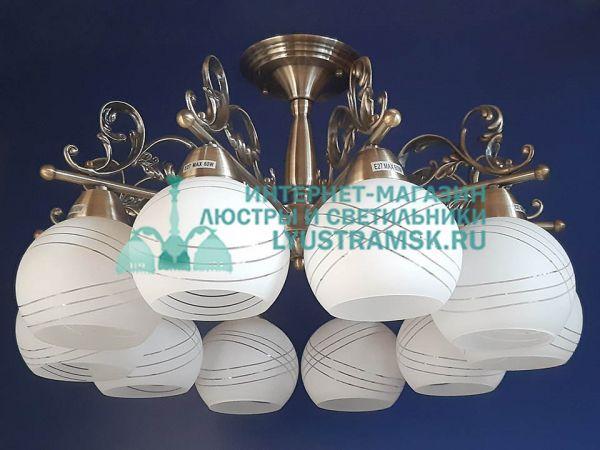 Люстра потолочная LyustraMsk. ЛС 788 на 10 рожков бронза