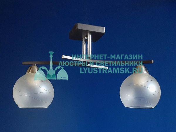 Люстра потолочная TinKo ЛС 377 на 2 рожка, хром/венге
