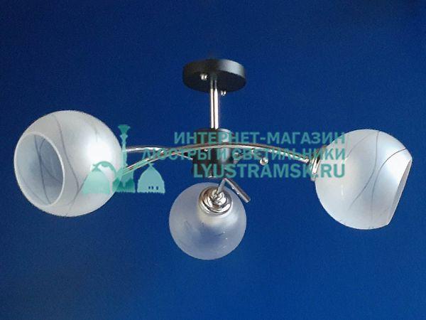 Люстра потолочная LyustraMsk ЛС 385 на 3 рожка венге, хром