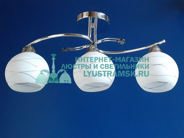 Люстра потолочная TinKo ЛС 179 на 3 рожка хром