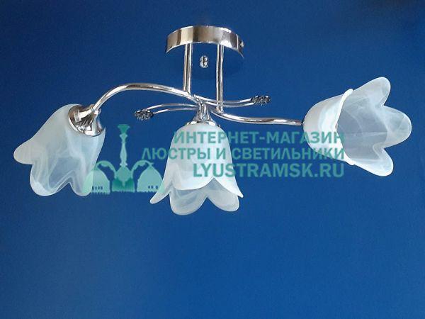 Люстра потолочная LyustraMsk. ЛС 181 на 3 плафона, хром