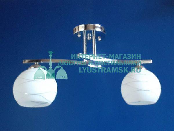 Люстра потолочная TinKo ЛС 422 на 2 рожка хром