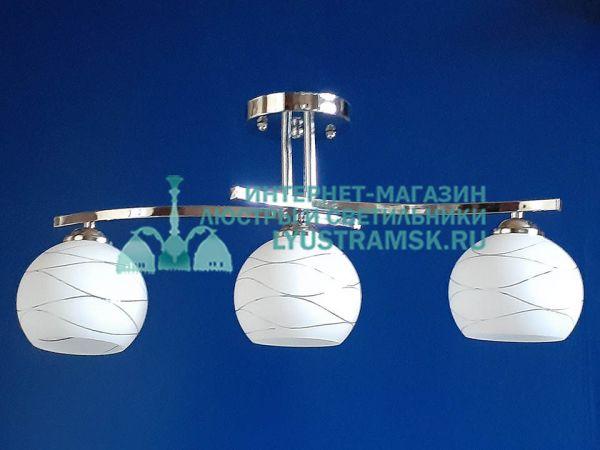 Люстра потолочная TinKo ЛС 422 на 3 рожка хром