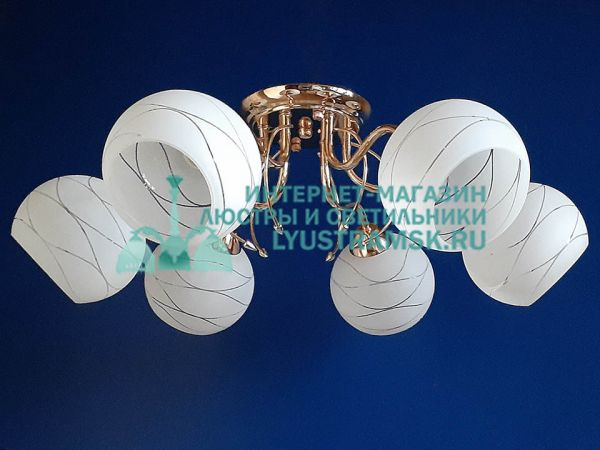 Люстра потолочная LyustraMsk. ЛС 705 на 6 рожков золото