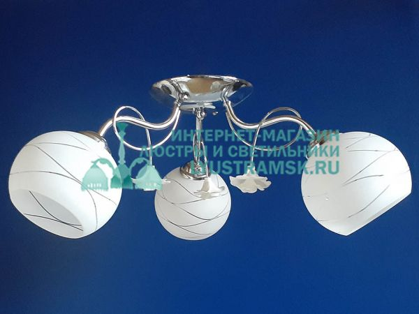 Люстра потолочная LyustraMskЛС 434 на 3 рожка хром