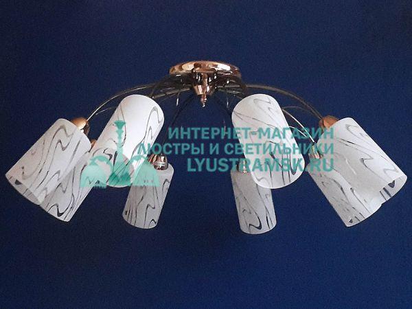 Люстра потолочная LyustraMsk. ЛС 696 на 8 рожков графит\золото