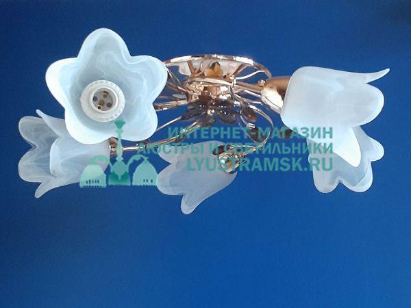 Люстра потолочная LyustraMsk. ЛС 192 на 5 рожков, золото