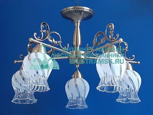 Люстра потолочная LyustraMsk ЛС 691 на 5 рожков бронза