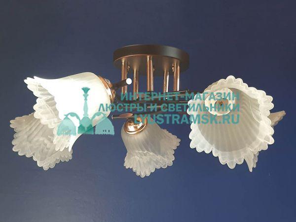 Люстра потолочная LyustraMsk. ЛС 776 на 5 рожков, венге/золото
