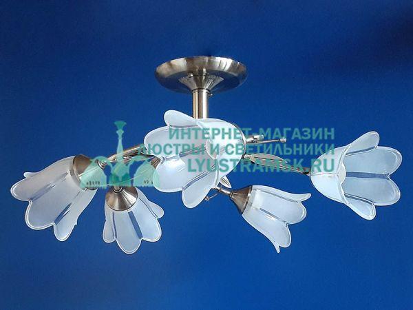 Люстра потолочная LyustraMsk. ЛС 744 на 5 плафонов, бронза.