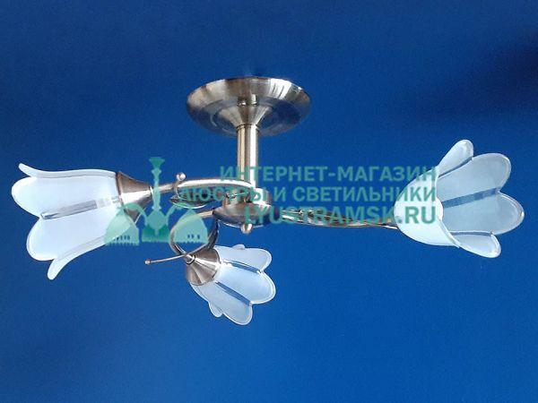 Люстра потолочная LyustraMsk. ЛС 744 на 3 плафона бронза