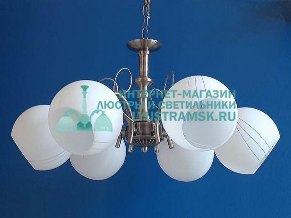 Люстра подвесная LyustraMsk. ЛС 150 на 6 рожков бронза