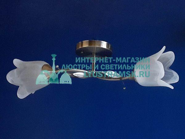 Люстра потолочная LyustraMsk. ЛС 738 на 2 плафона, бронза.