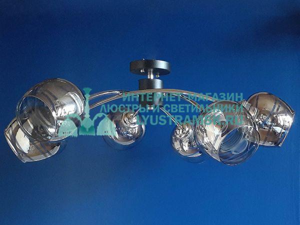 Люстра потолочная TinKo ЛС 385 на 6 рожков венге, хром