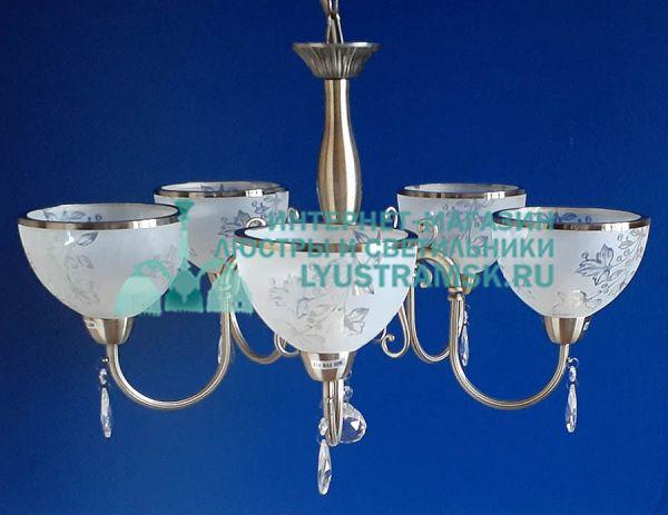 Люстра подвесная LyustraMsk ЛС 770 на 5 рожков, бронза