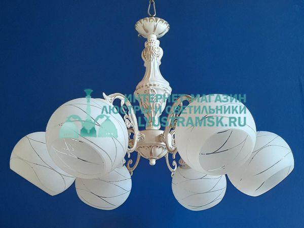 Люстра подвесная LyustraMsk. ЛС 714 на 6 рожков патина