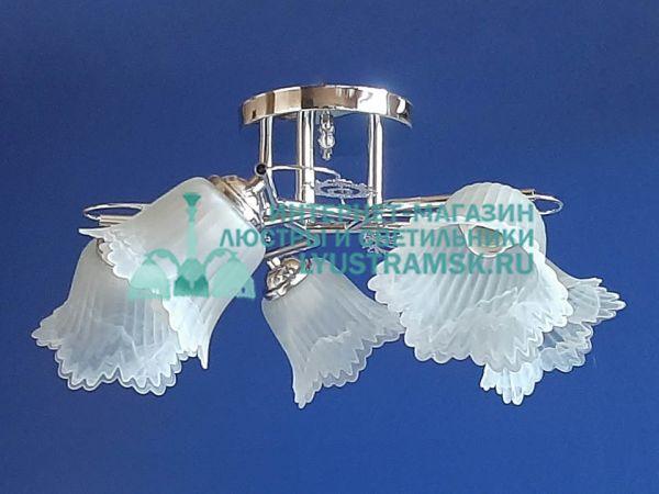 Люстра потолочная LyustraMsk. ЛС 765 на 5 рожков, хром