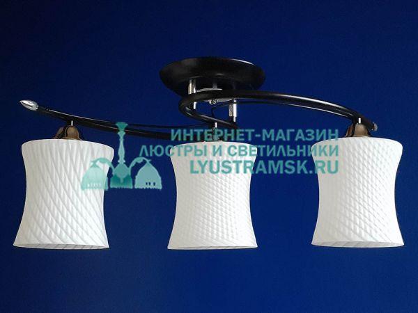 Люстра потолочная LyustraMsk ЛС 678 на 3 рожка черный