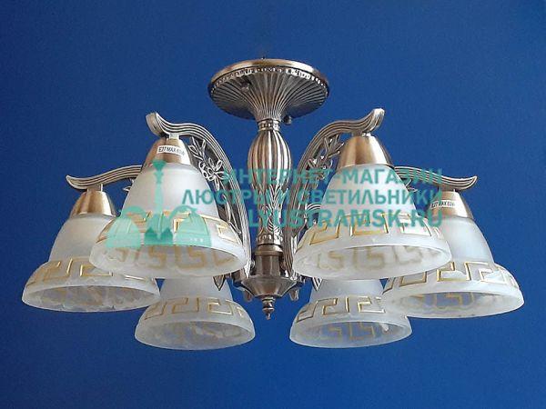 Люстра потолочная LyustraMsk ЛС 746 на 6 рожков, бронза.