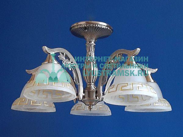 Люстра потолочная LyustraMsk ЛС 746 на 5 рожков, бронза.