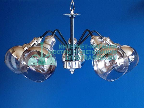 Люстра потолочно-подвесная Лофт ЛС 142/5 венге, хром