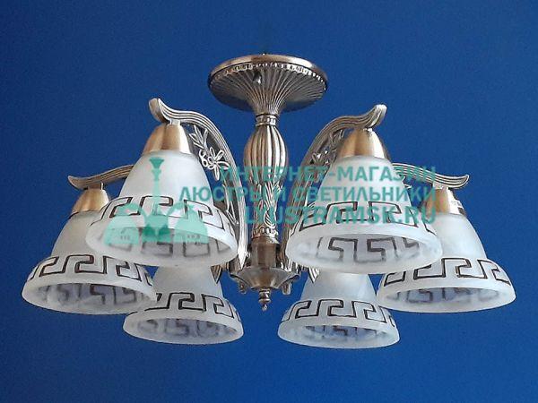 Люстра потолочная LyustraMsk. ЛС 761 на 6 рожков, бронза.