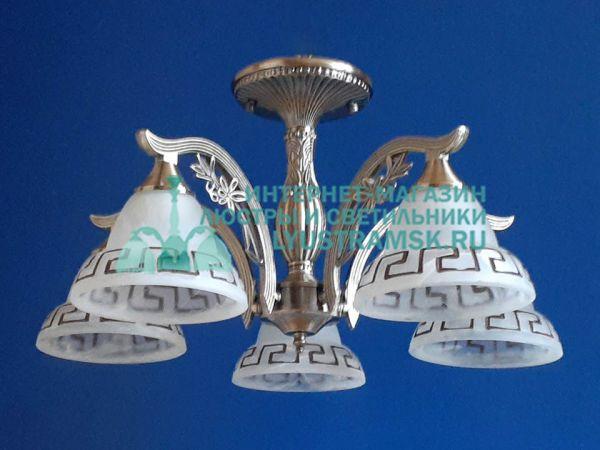 Люстра потолочная LyustraMsk. ЛС 761 на 5 рожков, бронза.