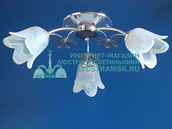 Люстра потолочная LyustraMsk ЛС 167 на 3 рожка хром