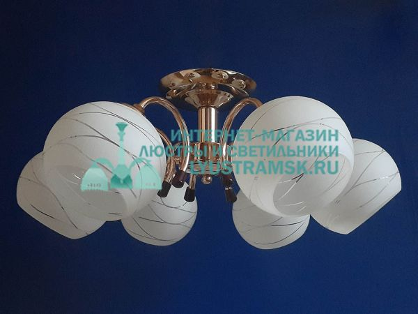 Люстра потолочная LyustraMsk ЛС 739 на 6 плафонов, золото