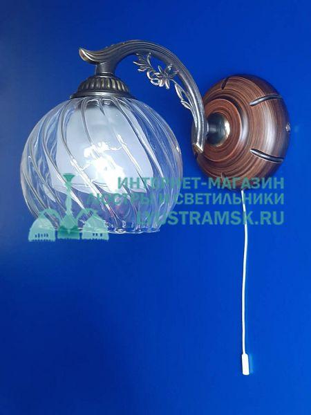 Светильник настенный, бра Reccagni Angelo A 2700/1 Италия ЛС 752 на 1 рожок, бронза