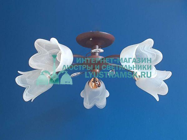 Люстра потолочная  LyustraMsk ЛС 704 на 5 рожков венге