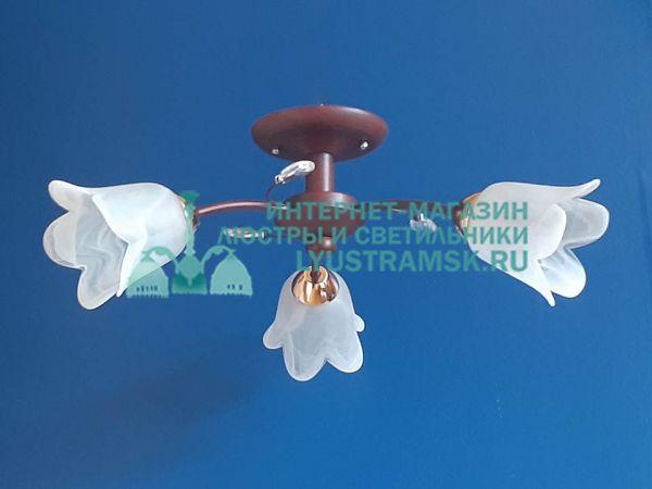Люстра потолочная  LyustraMsk ЛС 704 на 3 рожка венге