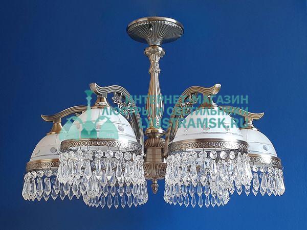 Люстра потолочная LyustraMsk Анжелика ЛС 002 на 6 рожков бронза