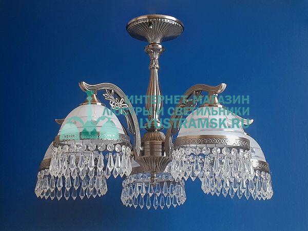 Люстра потолочная LyustraMsk Анжелика ЛС 002 на 5 рожков бронза