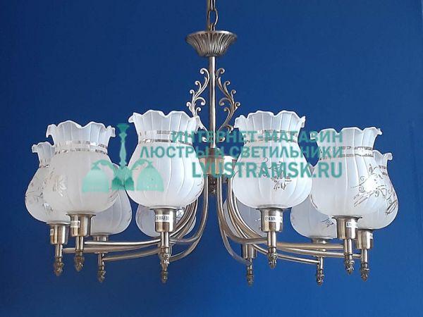 Люстра подвесная LyustraMsk ЛС 736 на 10 плафонов