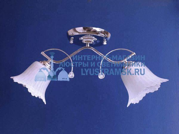 Люстра потолочная LyustraMsk ЛС 393 на 2 плафона, хром