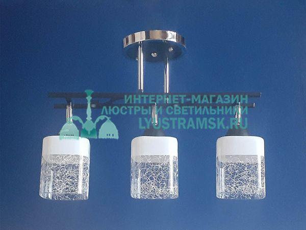 Люстра потолочная LyustraMsk ЛС 370 на 3 рожка, хром/венге