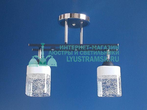 Люстра потолочная LyustraMsk ЛС 370 на 2 плафона, хром/венге