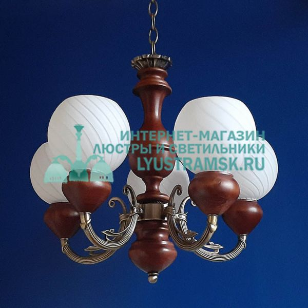 Люстра подвесная LyustraMsk ЛС 026 на 5 рожков, бронза