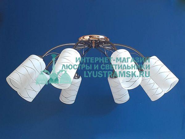 Люстра потолочная LyustraMsk ЛС 695 на 8 рожков графит, золото