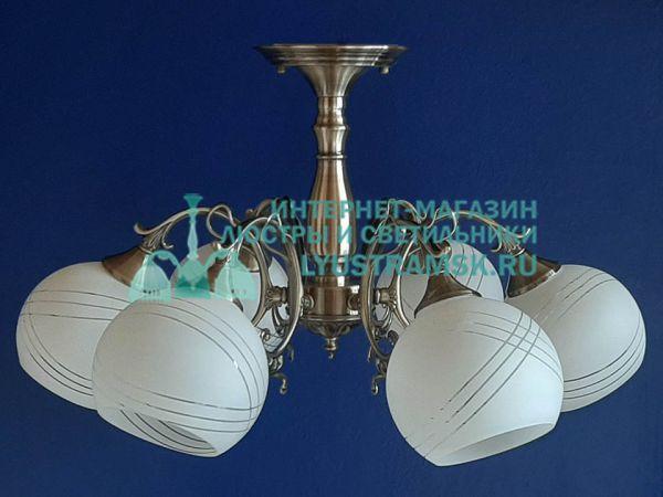 Люстра потолочная LyustraMsk ЛС 754 на 6 рожков, бронза