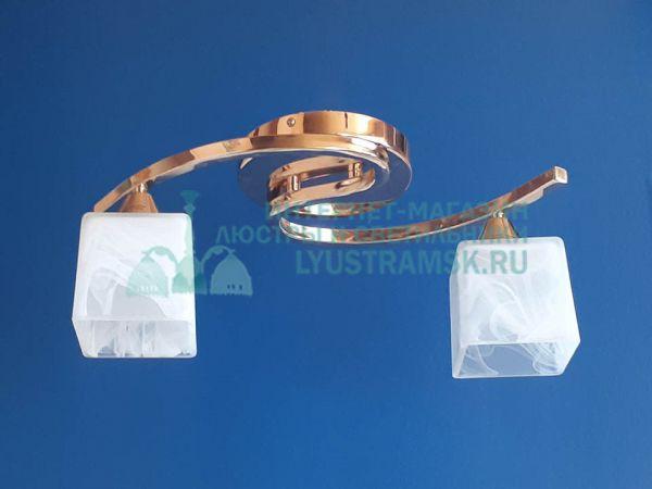 Люстра потолочная LyustraMsk ЛС 334 на 2 рожка золото