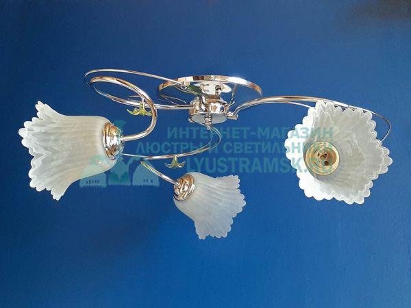 Люстра потолочная LyustraMsk ЛС 113 на 3 рожка, хром