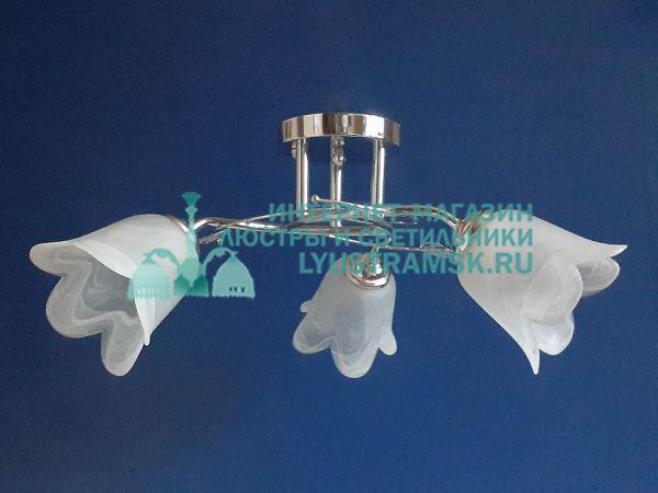 Люстра потолочная LyustraMsk ЛС 145 на 3 рожка, хром