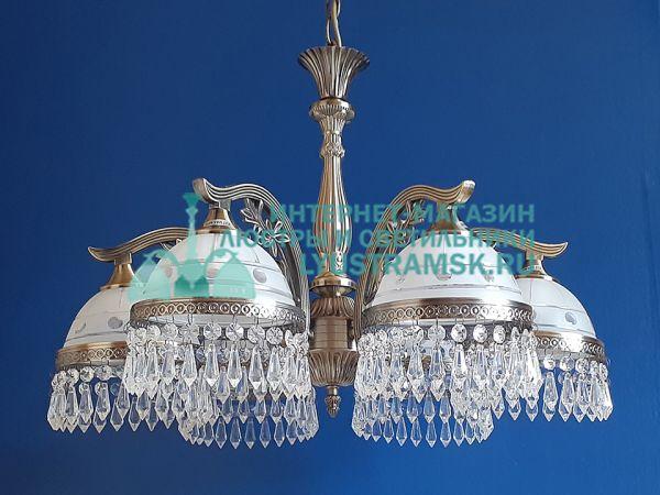 Люстра подвесная LyustraMsk Анжелика ЛС 002 на 6 рожков бронза