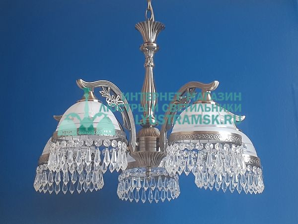 Люстра подвесная LyustraMsk Анжелика ЛС 002 на 5 рожков бронза