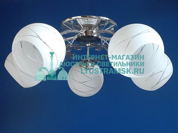 Люстра потолочная LyustraMsk. ЛС 167 на 5 рожков хром