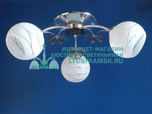 Люстра потолочная LyustraMsk. ЛС 167 на 3 рожка хром