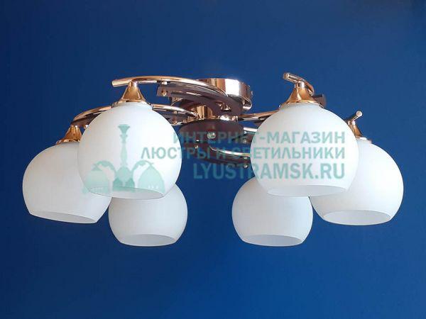 Люстра потолочная LyustraMsk ЛС 528 на 6 рожков золото